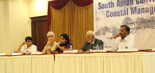 The panel discussion for Save Our Coasts, Pondicherry